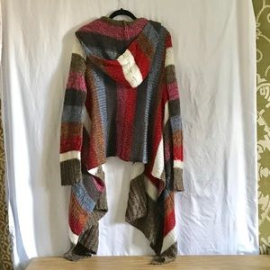 Multicolored Asymmetrical Sweater, Large